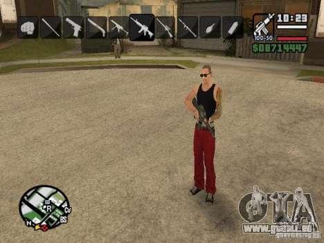 Symbole beim Ändern von Waffen für GTA San Andreas siebten Screenshot