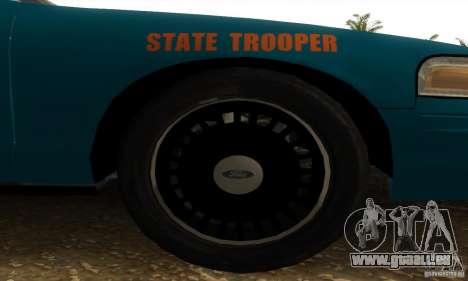 Ford Crown Victoria Georgia Police pour GTA San Andreas sur la vue arrière gauche