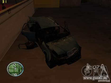 Defekte Autos auf Grove Street für GTA San Andreas neunten Screenshot