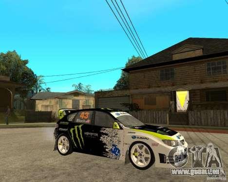 Ken Block Subaru Impreza WRX STi 2009 pour GTA San Andreas vue de droite