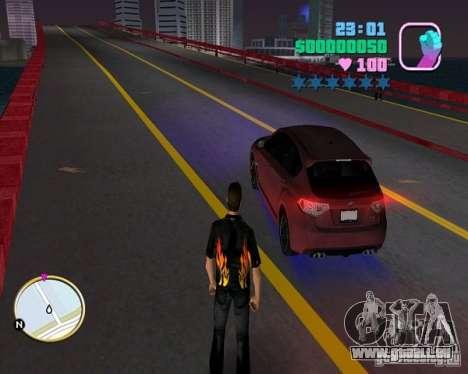 Subaru Impreza WRX STI pour GTA Vice City sur la vue arrière gauche