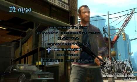 Menu dans le style de GTA 4 pour GTA San Andreas deuxième écran