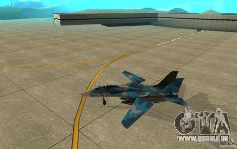 F-14 Tomcat Blue Camo Skin pour GTA San Andreas sur la vue arrière gauche