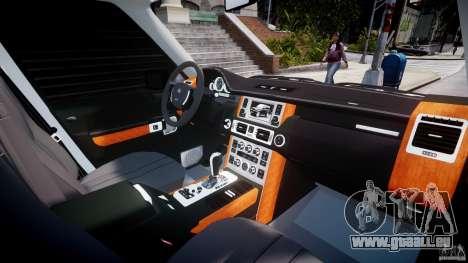 Range Rover Supercharged 2009 v2.0 pour GTA 4 vue de dessus