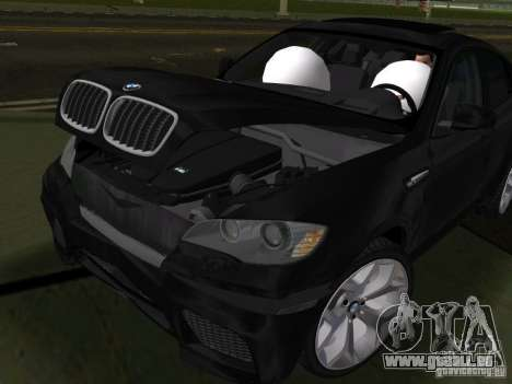 BMW X6M pour une vue GTA Vice City de l'intérieur