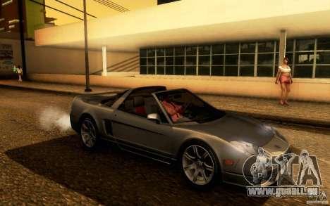 Acura NSX Targa pour GTA San Andreas vue arrière