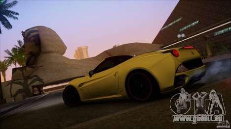 Ferrari California für GTA San Andreas Innenansicht