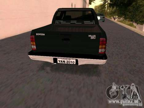 Toyota Hilux SRV 3.0 4X4 Automatica für GTA San Andreas zurück linke Ansicht