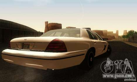 Ford Crown Victoria Washington Police pour GTA San Andreas laissé vue