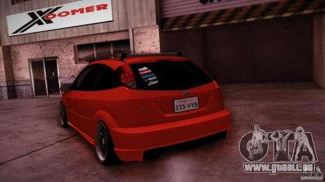 Ford Focus SVT Clean pour GTA San Andreas vue de dessus