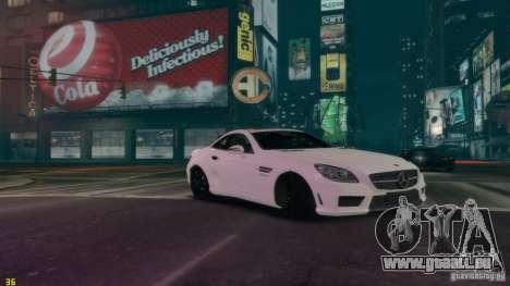 Mercedes-Benz SLK55 R172 AMG 2011 v1.0 für GTA 4 rechte Ansicht