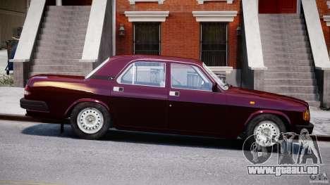GAZ Volga 3110 pour GTA 4 est une vue de l'intérieur