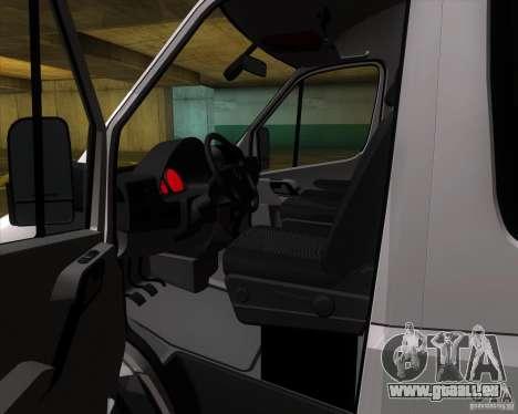 Mercedes-Benz Sprinter 311CDi für GTA San Andreas Innenansicht