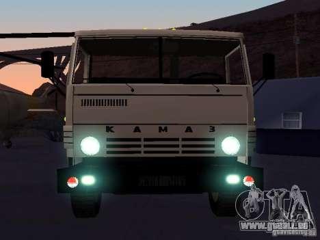 KAMAZ 53212 ouvert pour GTA San Andreas vue intérieure