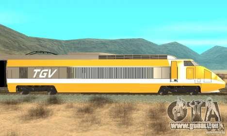 TGV SOUTH WEST pour GTA San Andreas sur la vue arrière gauche