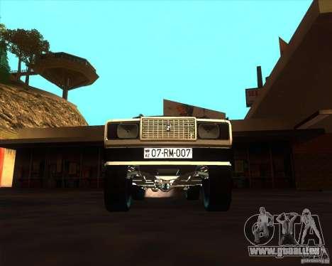 VAZ 2107 Azeri Style pour GTA San Andreas vue intérieure