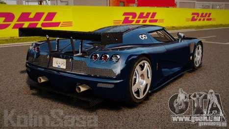 Koenigsegg CCGT Stock pour GTA 4 Vue arrière de la gauche