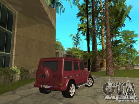 Mercedes-Benz G500 1999 Mitglied für GTA San Andreas linke Ansicht