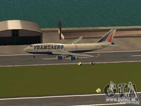 Boeing 747-400 pour GTA San Andreas laissé vue