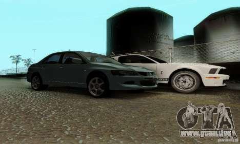 Mitsubishi Lancer Evolution 8 Tuneable pour GTA San Andreas vue de droite