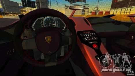 Lamborghini Aventador J [RIV] pour GTA 4 Vue arrière