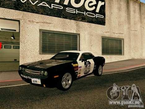 Dodge Challenger SRT8 pour GTA San Andreas vue de dessus