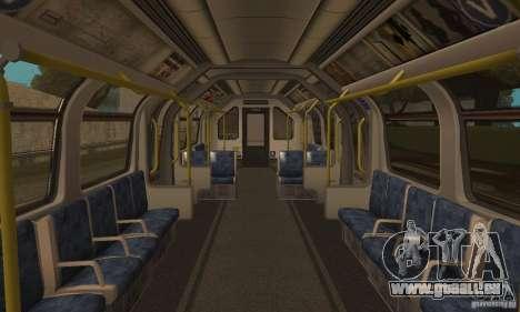 London Metro pour GTA San Andreas sur la vue arrière gauche