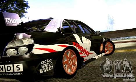Subaru Impreza WRC 2007 für GTA San Andreas Rückansicht