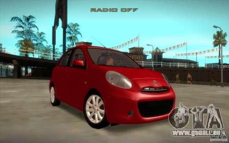 Nissan Micra 2011 pour GTA San Andreas