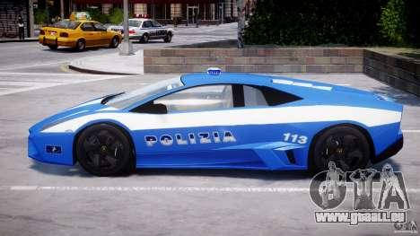 Lamborghini Reventon Polizia Italiana pour GTA 4 est une vue de dessous