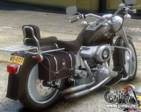 Harley Davidson FLSTF Fat Boy pour GTA 4 Vue arrière de la gauche