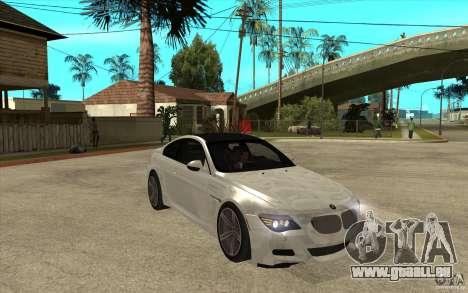 BMW M6 Coupe V 2010 pour GTA San Andreas vue arrière