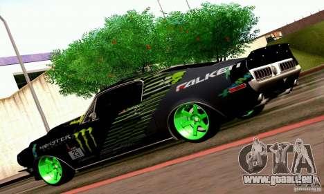 Shelby GT500 Monster Drift für GTA San Andreas Innenansicht