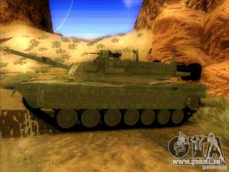 M1A2 Abrams de Battlefield 3 pour GTA San Andreas vue arrière