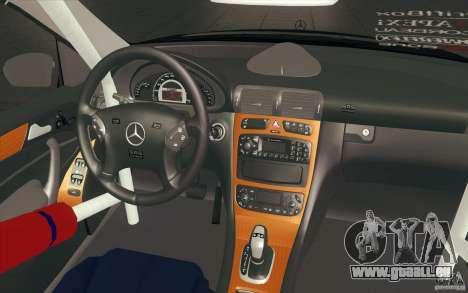 Mercedes-Benz C32 AMG Tuning pour GTA San Andreas vue de dessus