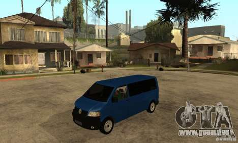VW Transporter T5 2.5 TDI long pour GTA San Andreas