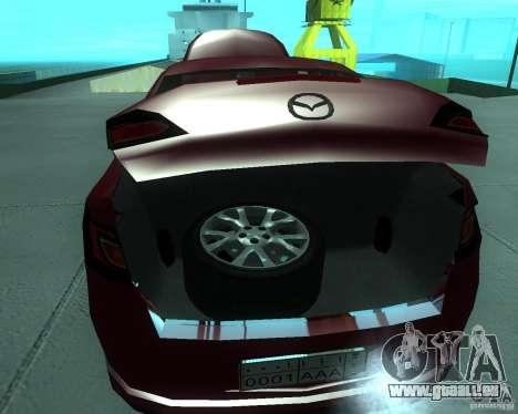 Mazda 6 2010 für GTA San Andreas Rückansicht