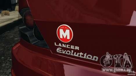 Mitsubishi Lancer Evolution 8 pour GTA 4 vue de dessus