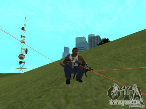 Laser Weapon Pack für GTA San Andreas siebten Screenshot