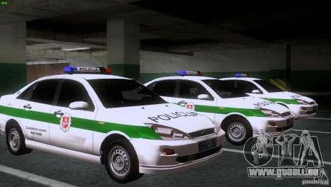 Ford Focus Policija für GTA San Andreas Rückansicht