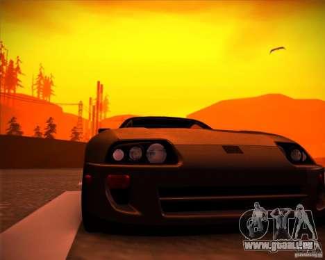 Toyota Supra SHE pour GTA San Andreas vue de droite