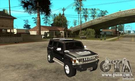 Hummer H3 für GTA San Andreas Rückansicht