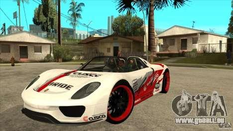 Porsche 918 Spyder Consept für GTA San Andreas
