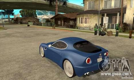 Alfa Romeo 8C Competizione für GTA San Andreas zurück linke Ansicht