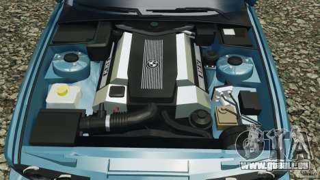 BMW E34 V8 540i pour GTA 4 est une vue de dessous