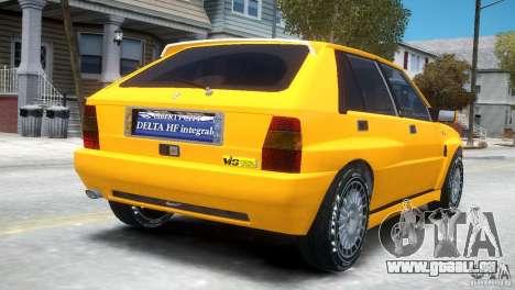 Lancia Delta HF Integrale für GTA 4 rechte Ansicht