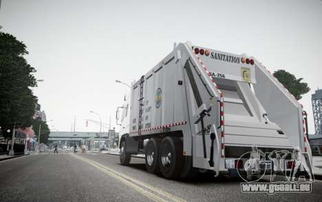 Dongfeng Denon Garbage Truck pour GTA 4 Vue arrière de la gauche