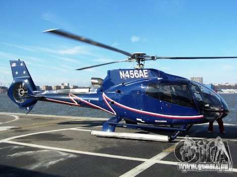 Eurocopter EC130B4 NYC HeliTours REAL für GTA 4 obere Ansicht