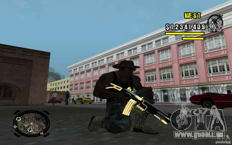 Gold Weapon Pack v 2.1 für GTA San Andreas her Screenshot
