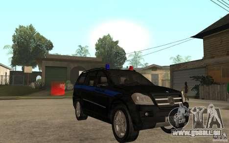 Mercedes-Benz GL500 Polizei für GTA San Andreas Rückansicht